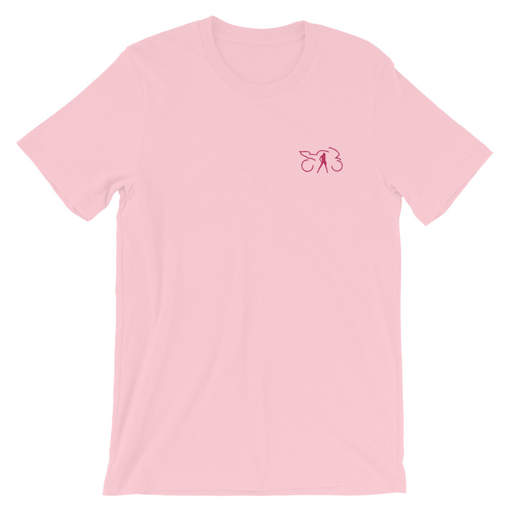 Embroidered T-shirt (pink)