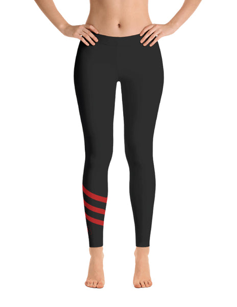 Red Stripe Leggings