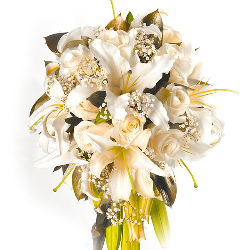 CASCADE BOUQUET OF LILIES AND ROSES
