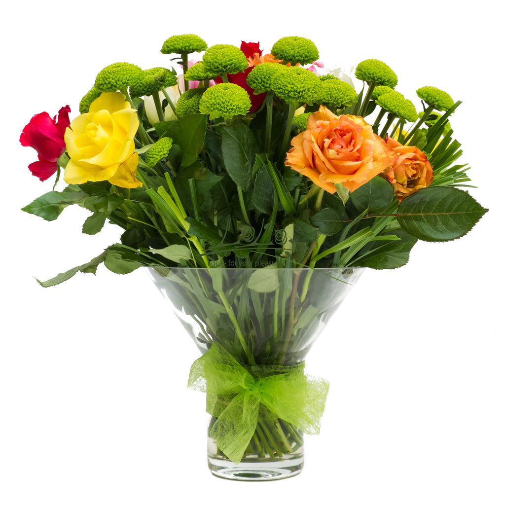 Green Vase Arrangement