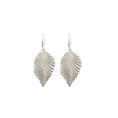 Earrings solid leaf