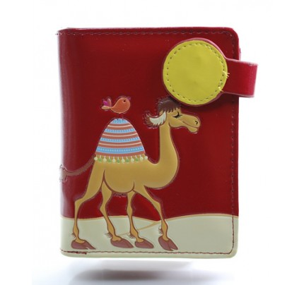 Wallet - Camel (small / red)