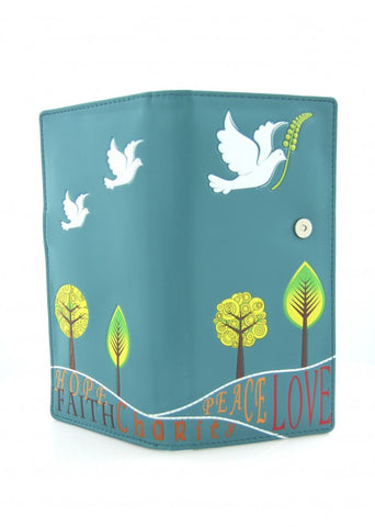 Wallet - Faith (large / teal)