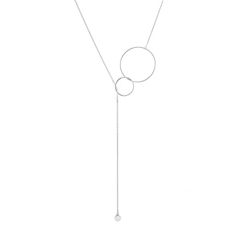Necklace chain w big+small circle+ball