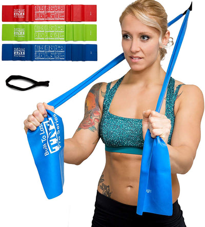 Exercise Stretch Bands With Door Anchor - TNT Pro Series