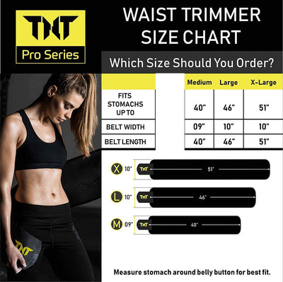 TNT Pro Series Waist Trimmer Belt for Men & Women - TNT Pro Series