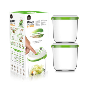 FOSA Vacuum Food Storage - Madrid Collection - Additional Container Set - 2 x 1350 ml (Item No. MC21350)