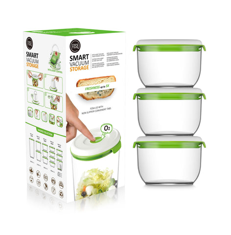 FOSA Food Storage set of 3 vacuum canisters
