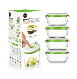 FOSA Vacuum Food Storage - Madrid Collection - Additional Container Set - 4 x 600 ml (Item No. MC40600)