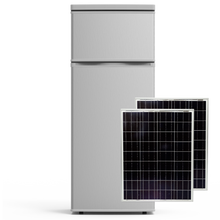 Load image into Gallery viewer, VoltRay Solar DC Powered Refrigerator 7.4 cu.ft + 160W Solar Panel Combo