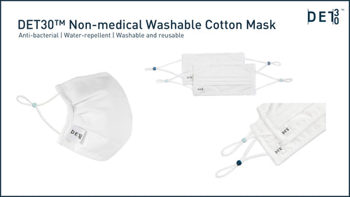 DET30 Resuable Non-Medical Mask with 3-layer protection (2-pack)