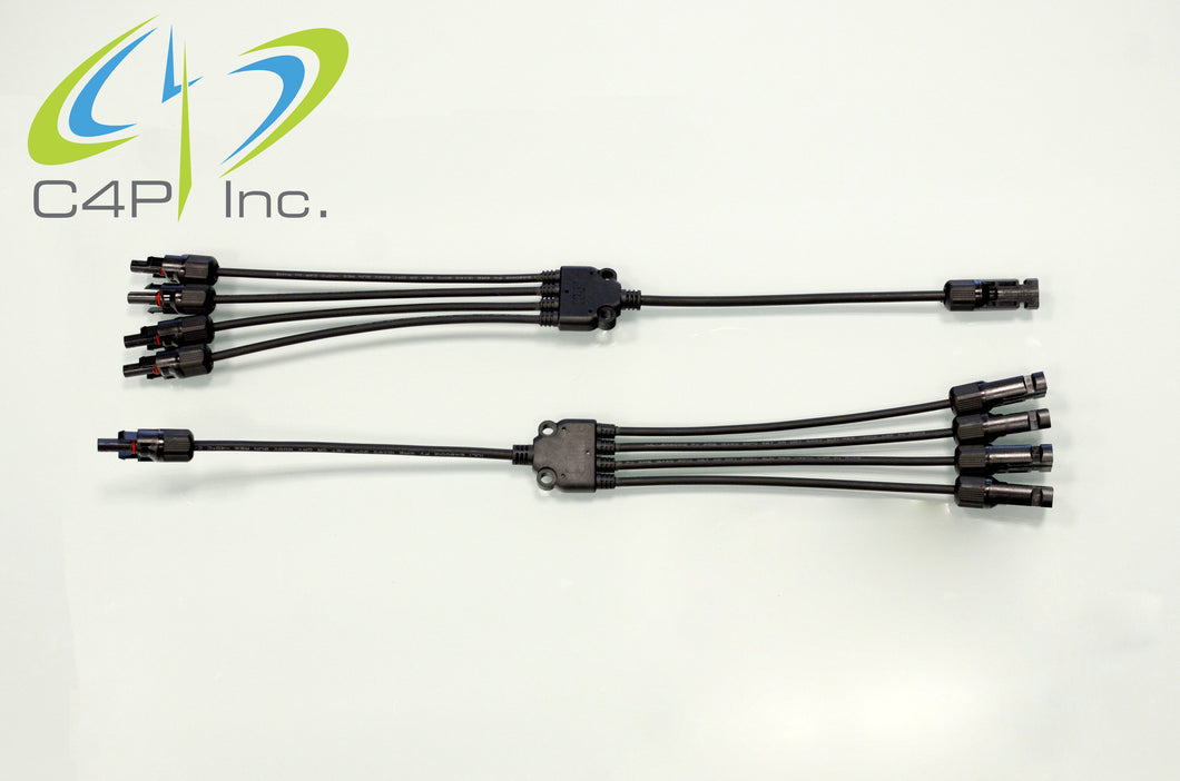 MC4 Branch Cables 4 to 1
