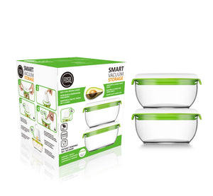 FOSA Vacuum Food Storage - Madrid Collection - Additional Container Set - 2 x 600 ml (Item No. MC20600)