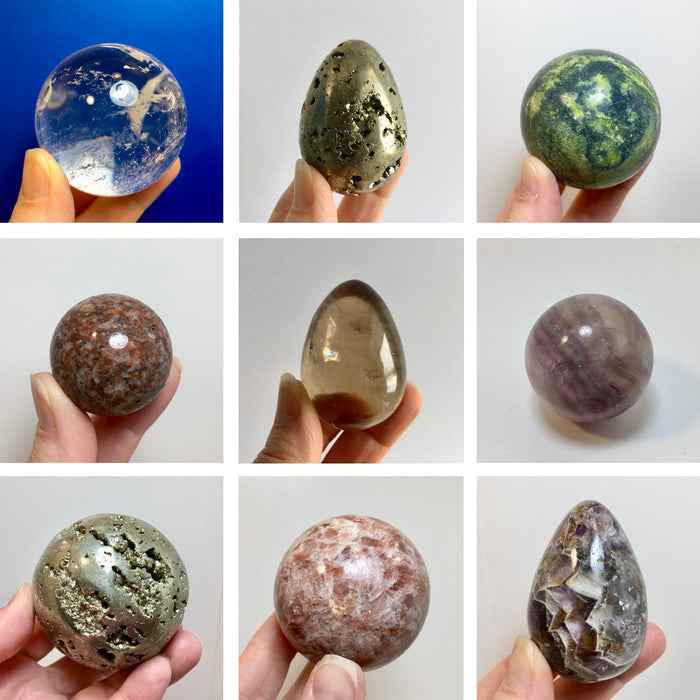 Crystal and Stone Spheres