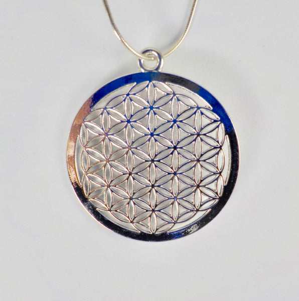 Flower Of Life Pendant – Flat Disc-Shaped - 14.99