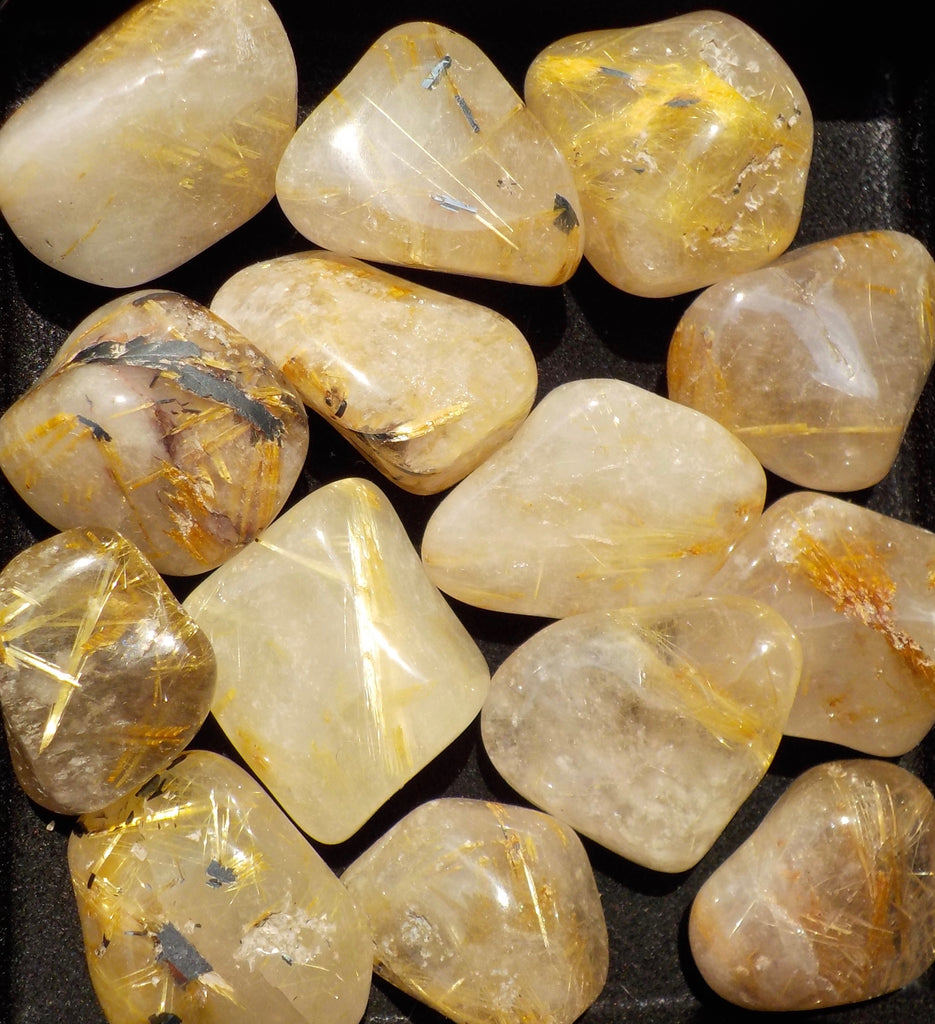 Rutilated Quartz Tumbled Stone - 3.99