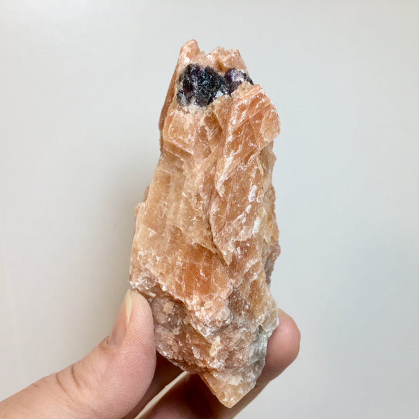 Orange Calcite Purple Fluorite  - 9.97