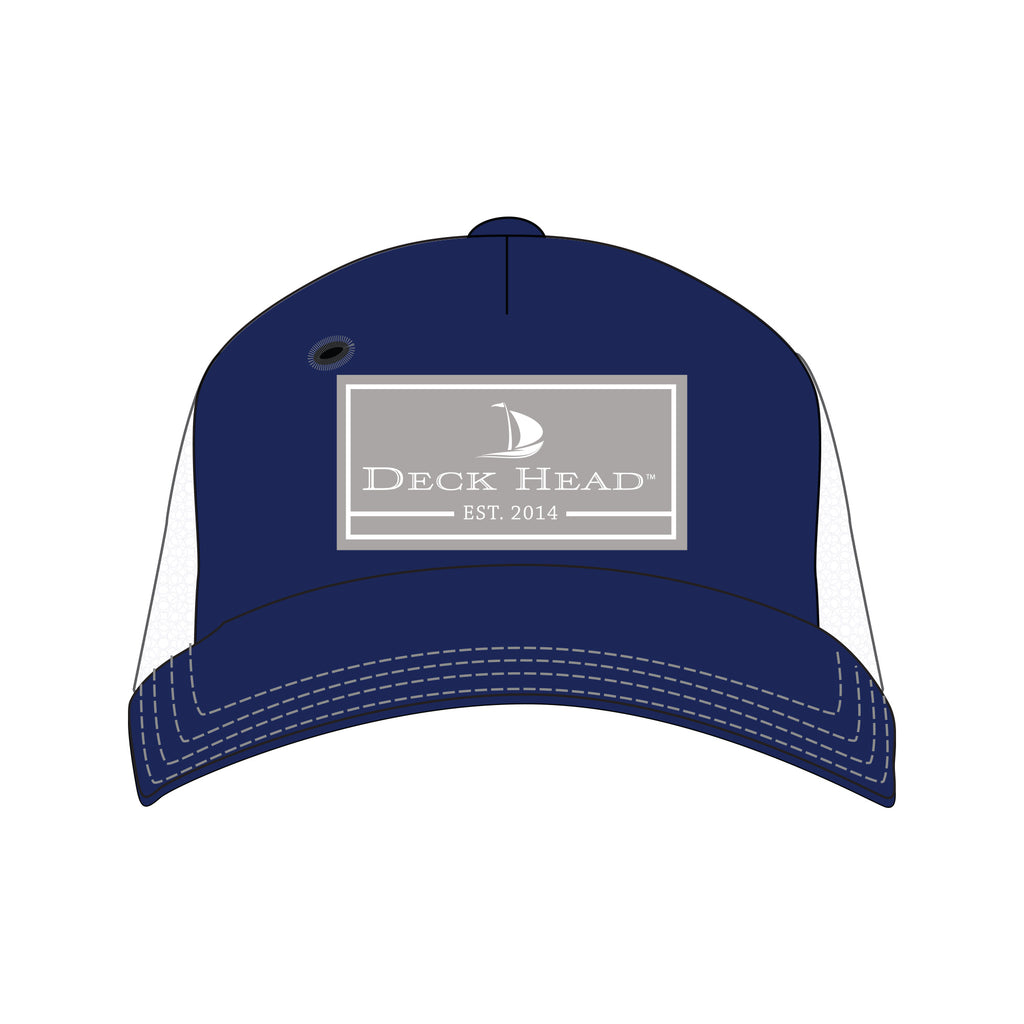 Trucker Navy & Gray Rectangle Hat