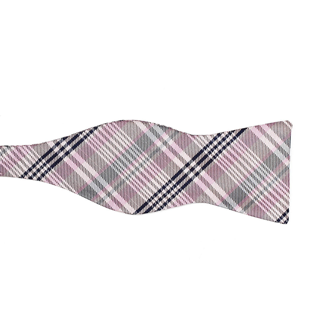 5 point plaid pink left