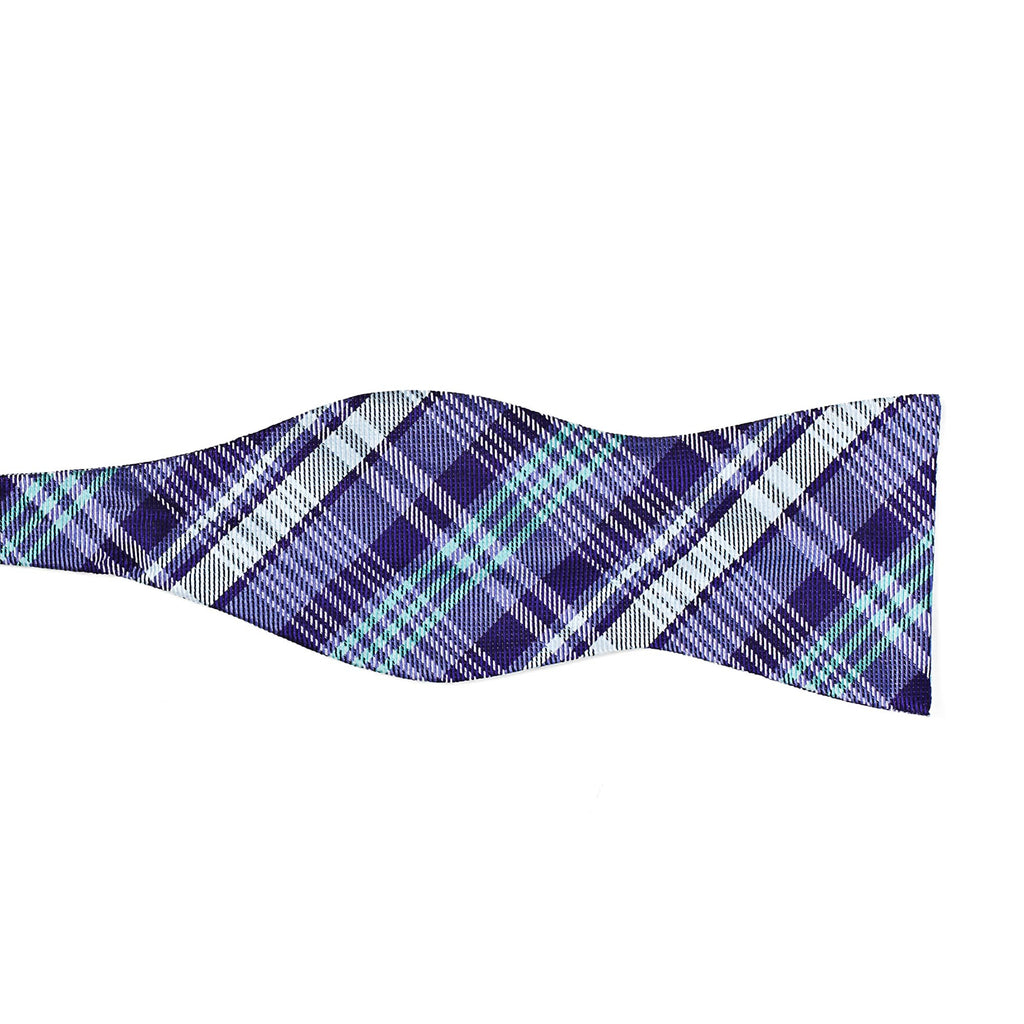 5 point plaid purple left