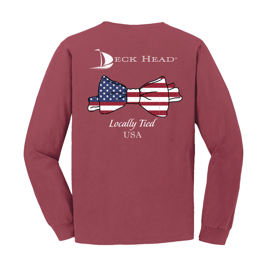 Locally Tied USA Pocket Long Sleeve Shirt