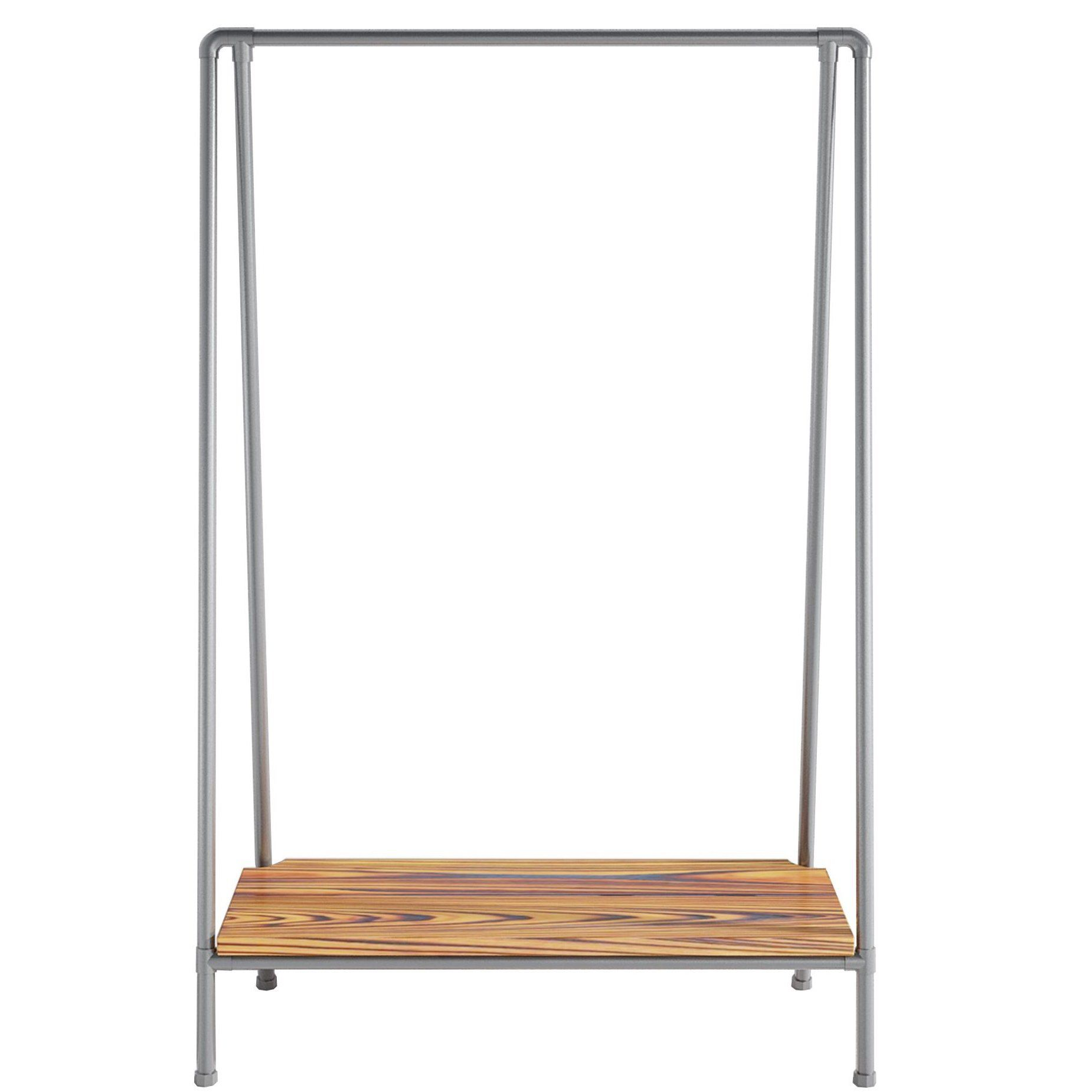 Ziito Swing Low clothes rack with a low shelf
