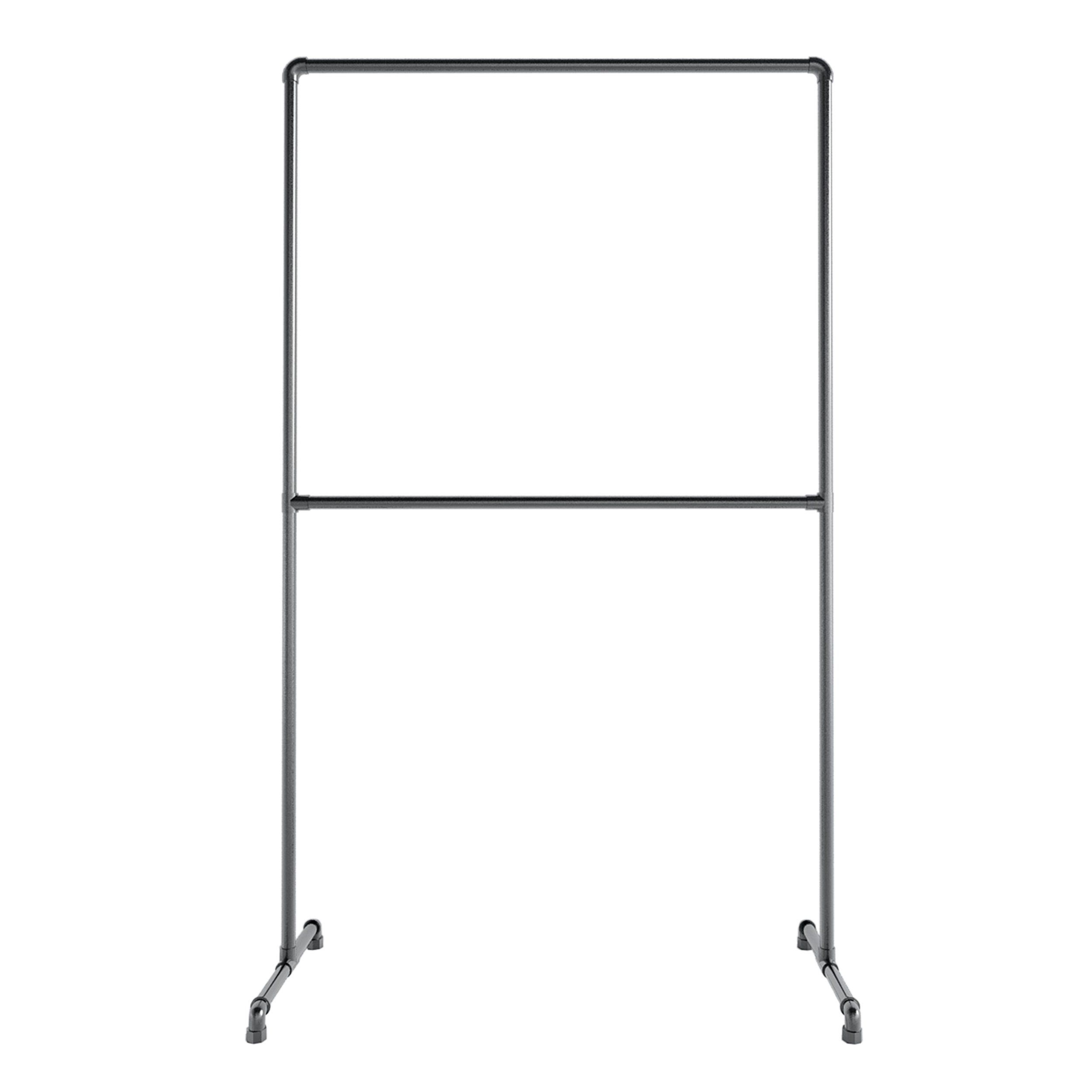 double clothes rail silver or black buy it on. Black Bedroom Furniture Sets. Home Design Ideas