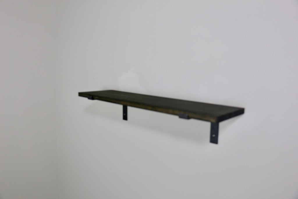ZIITO H2 - Wood shelf with steel bracket below shelf