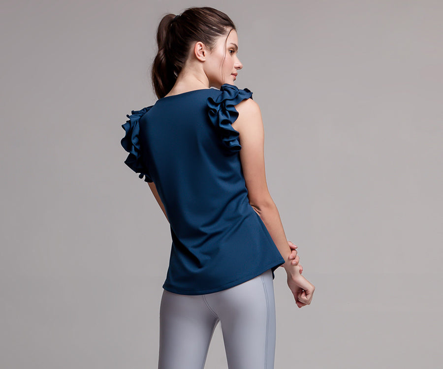 BLUE FLARE TANK TOP - Adrenalina AW | Luxury Activewear