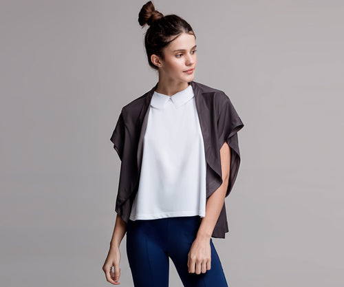 ASPHALT GRAY CAPE - Adrenalina AW | Luxury Activewear