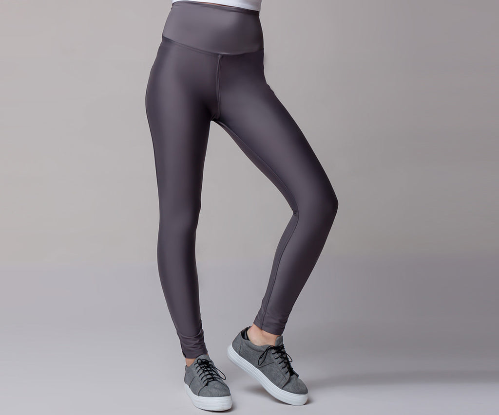 DARK GRAY CLASSIC HIGH WAIST LEGGINGS - Adrenalina AW | Luxury Activewear