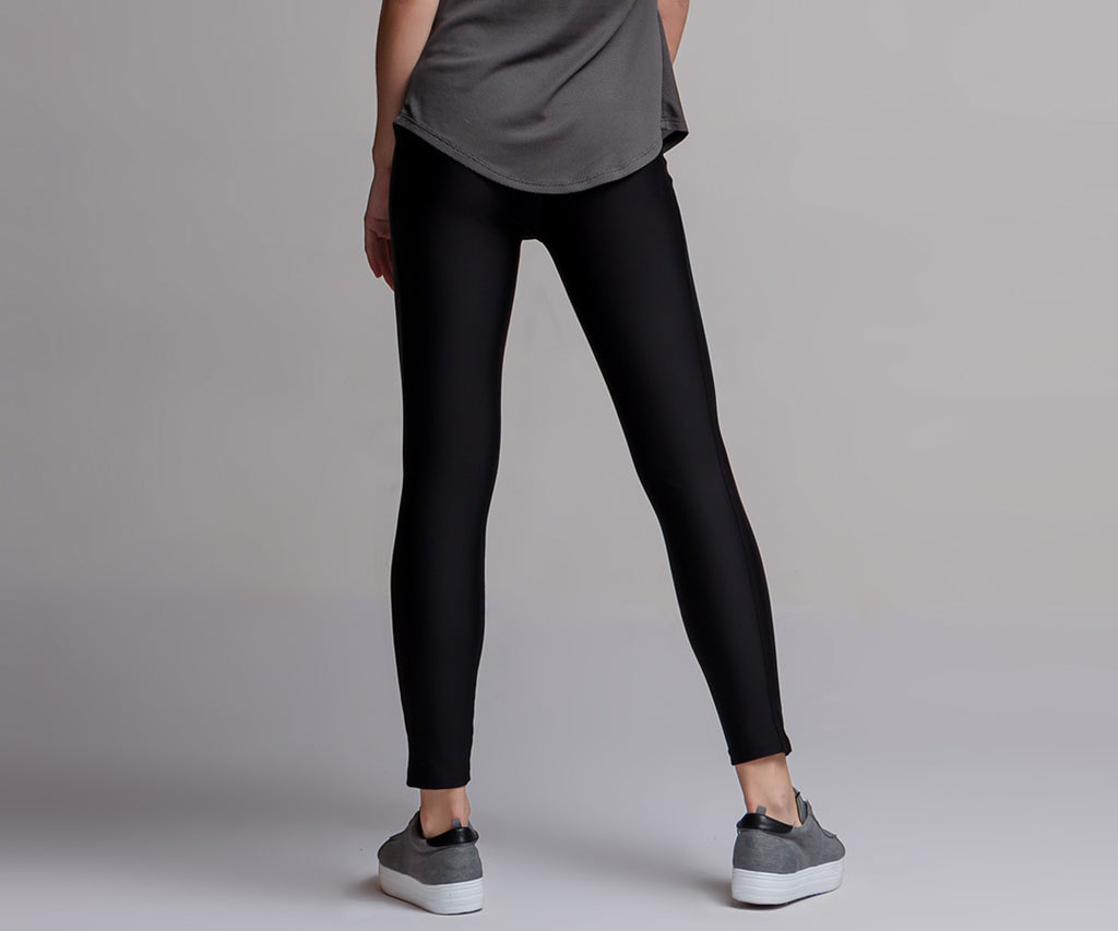 BLACK CLASSIC HIGH WAIST LEGGINGS - Adrenalina AW | Luxury Activewear