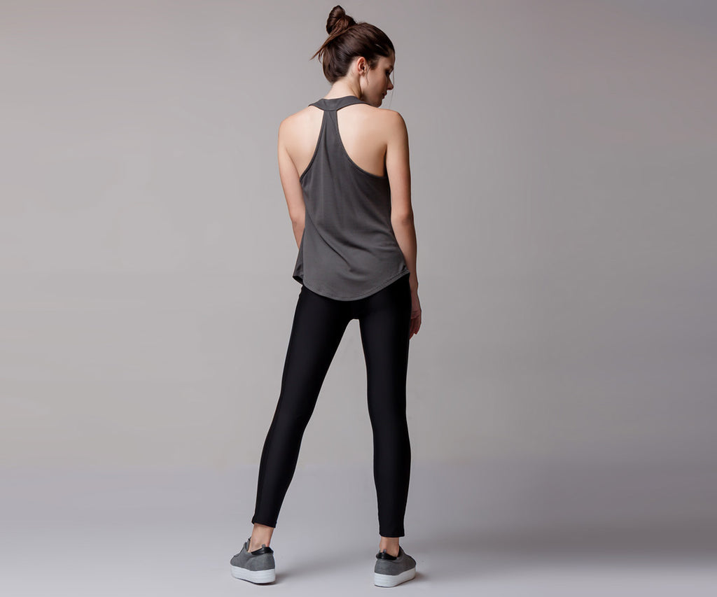 ASPHALT GRAY CLASSIC HIGH WAIST LEGGINGS - Adrenalina AW | Luxury Activewear
