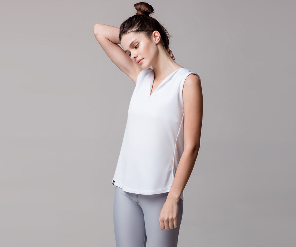 WHITE CLASSIC TANK TOP - Adrenalina AW | Luxury Activewear