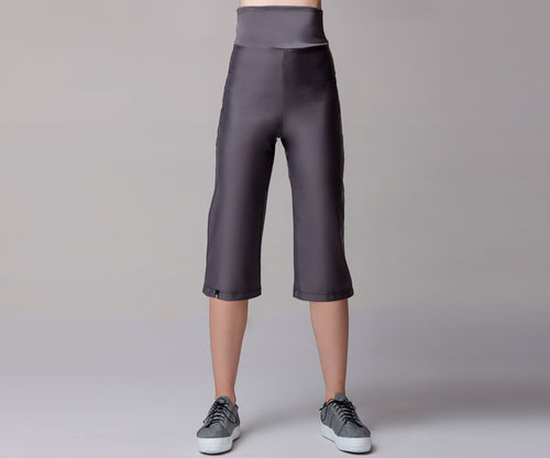 GRAY STRETCH CULOTTES - Adrenalina AW | Luxury Activewear