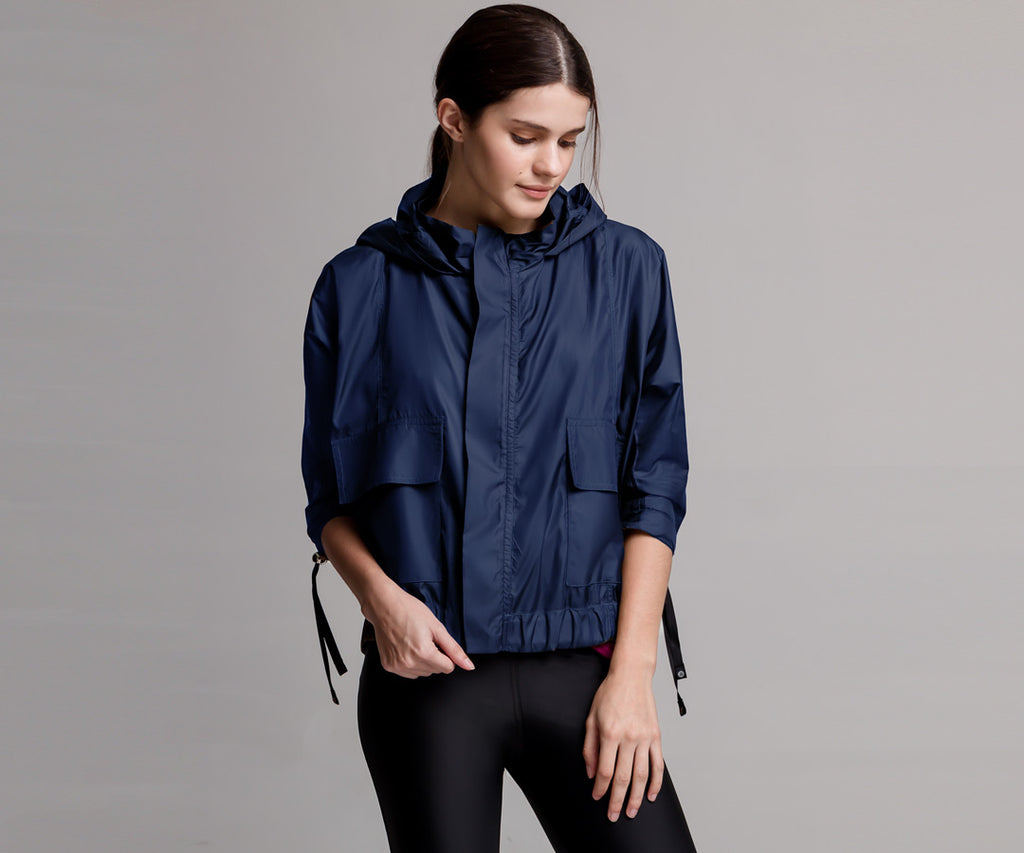 BLUE LIGHT BOMBER JACKET - Adrenalina AW | Luxury Activewear
