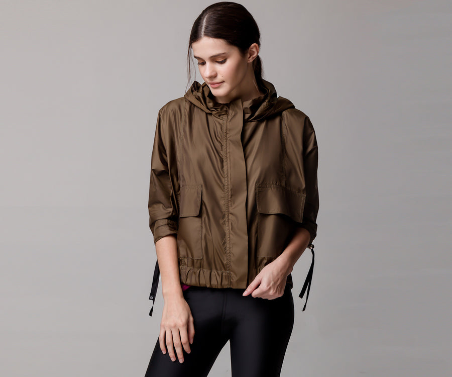 GREEN LIGHT BOMBER JACKET - Adrenalina AW | Luxury Activewear