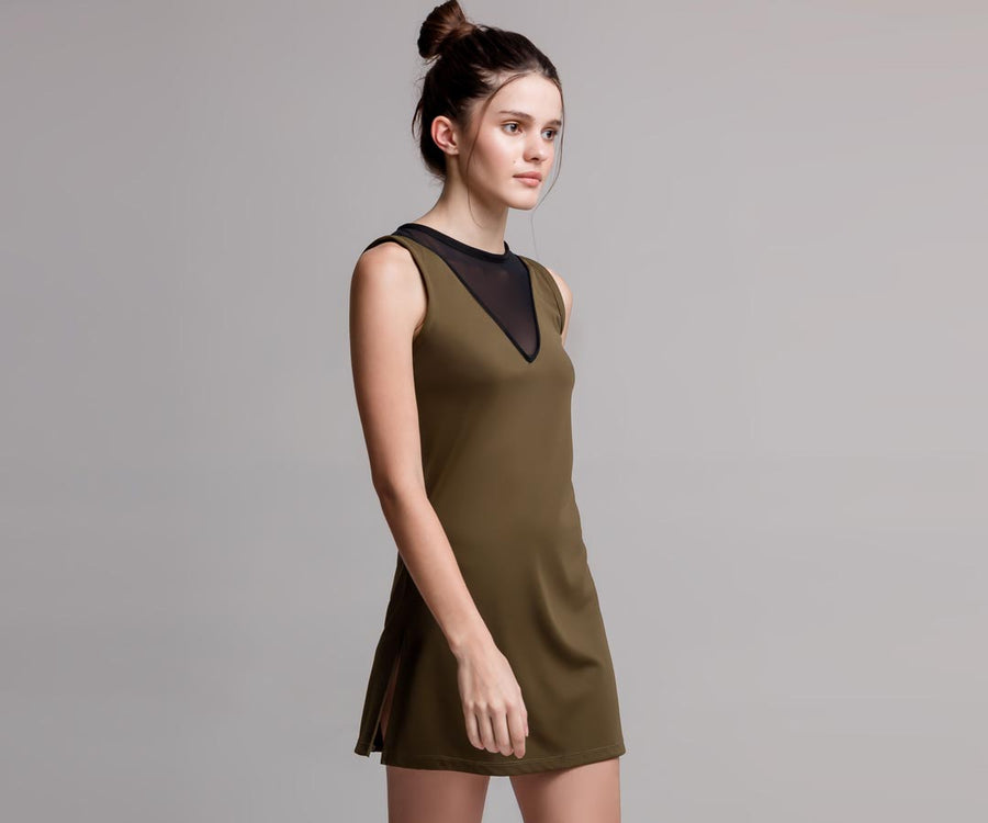 GREEN SHIRT DRESS - Adrenalina AW | Luxury Activewear