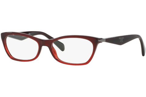 Prada PR15PV MAX/1O1 Eyeglasses, Bordeaux Gradient Red Frame, Clear 53mm Lenses