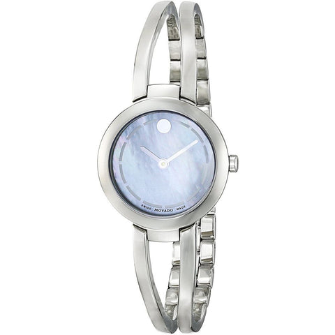 Movado 0606812 Amorosa Duo Analog Display Quartz Watch, Silver Stainless Steel Band, Round 25.2mm Case
