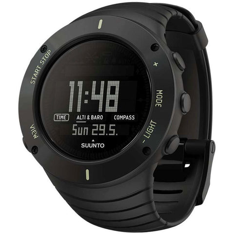 Suunto SS021371000 Core Ultimate Black Digital Display Quartz Watch, Black Elastomer Band, Round 49.1mm Case