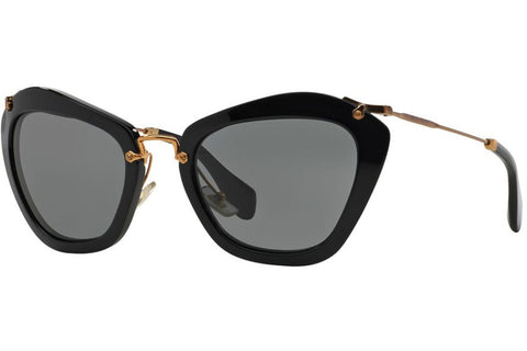 Miu Miu MU 10NS 1AB1A1 Sunglasses, Black Frame, Gray 55mm Lenses