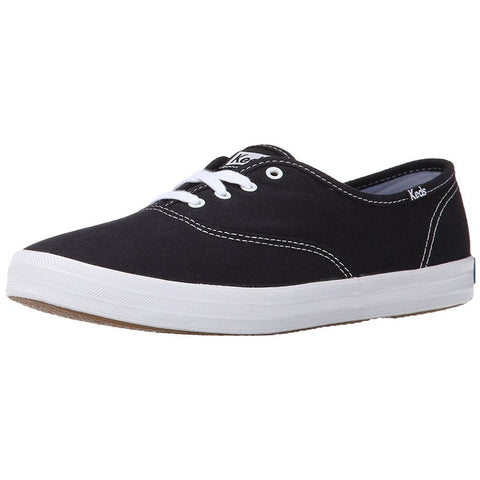 Keds WF34100 Women's Champion Original Canvas Sneakers, Color: Black, Size: 7 B(M) US