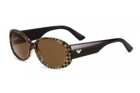 Emporio Armani EA9608/S I09/8U Sunglasses, Brown Black Frame, Dark Brown 54mm Lenses