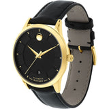 Movado 0606875 1881 Automatic Analog Display Automatic Watch, Black Leather Band, Round 39.5mm Case