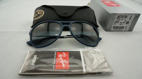 Ray-Ban RB4201 6002/8G Alex Sunglasses, Blue Frame, Gray Gradient 59mm Lenses