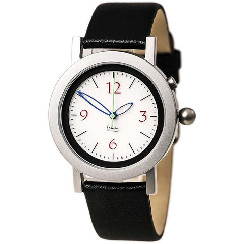 Projects 7154L Michelangelo Analog Display Quartz Watch, Black Leather Band, Round 36mm Case