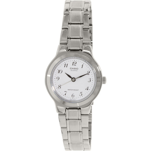 CasioLTP1131A-7B Women's Analog Display Quartz Watch, Silver Stainless Steel Band, Round 27mm Case