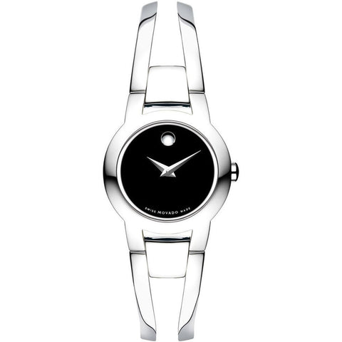 Movado 0604759 Amorosa Analog Display Quartz Watch, Silver Stainless Steel Band, Round 24mm Case