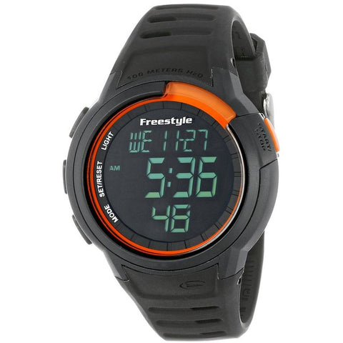 Freestyle Men's FS85012 Mariner Digital Watch, Black Silicone Band, Round 47mm Case